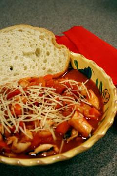 Photo of homemade chioppino.