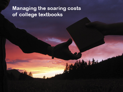 Managing the source cost of college textbooks.