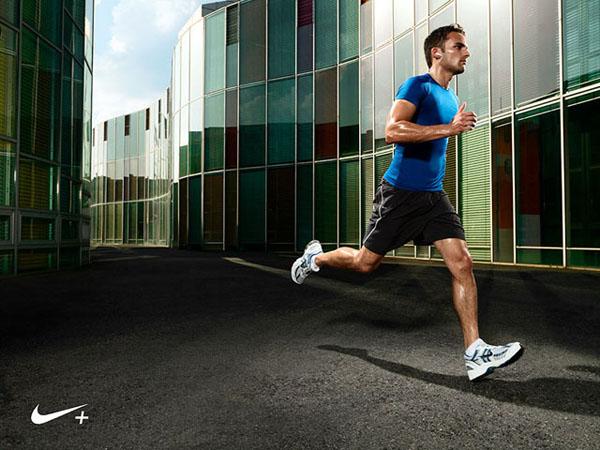 Runner wearing Nike.