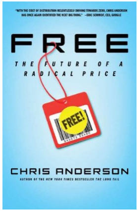 "Book cover design for Chris Anderson's ""Free - The future of a radical price""."
