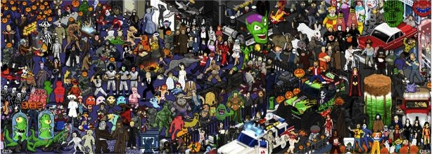 Halloween Pixel Party by Roger Barr and Louis Fernet-Lecliar.