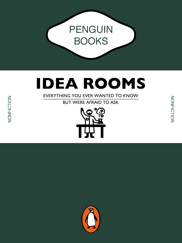 A Penguin books inspired cover design for the Idea Room.