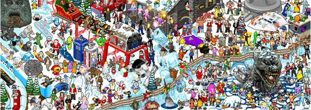 Winter Holiday Pixel Party by Roger Barr and Louis Fernet-Lecliar.