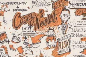 Sketch note of Casey Neistat's SxSW 2014 keynote.