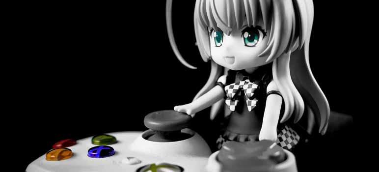 Photo of anime character playing XBOX. Image Credit: Jose M Martin Jimenez, via Flickr/CC.