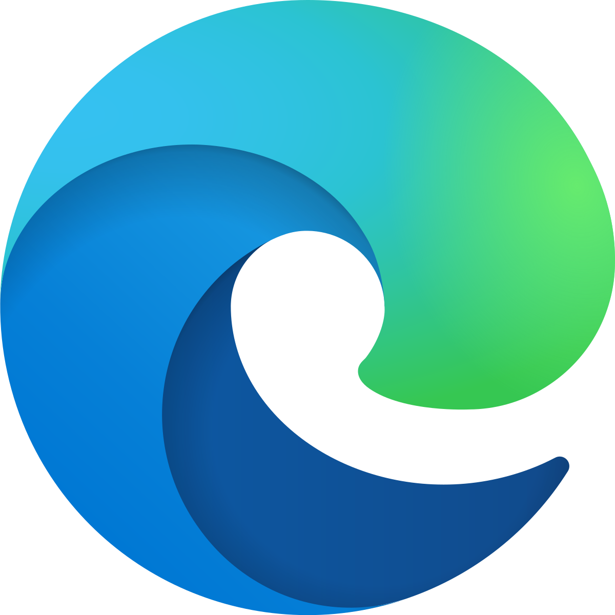 Icon for the Microsoft Edge web browser.