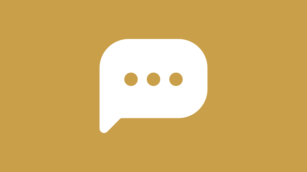 Icon of a text message that represents the items categorized as a social updates.