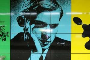 Photo of Glenn Gould Mural in Brussels, Belgium. Image Credit: Kim Eriksson, via Flickr/CC.