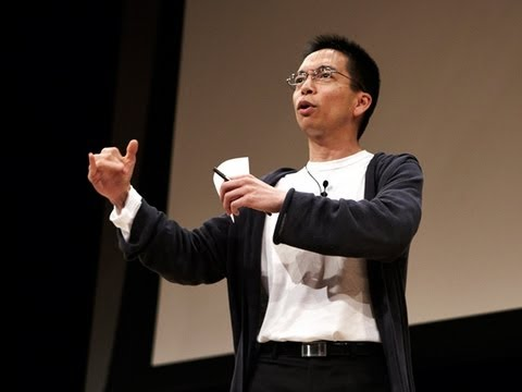 Photo of John Maeda speaking about how to work with creatives.