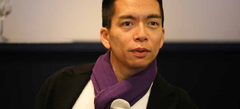 Photo of John Maeda at World Economic Forum. Image Credit: Robert Scoble, via Flickr/CC.