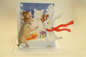 Sample pop-up card created from old greeting cards. Image Credit: Lea, via Flickr/CC.