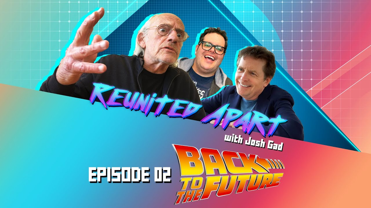 Title slate from the Back to the Future episode of Reunited Apart.