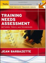 Book cover: Training needs assessment.